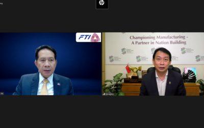 ส.อ.ท. หารือออนไลน์กับสภาอุตสาหกรรมแห่งประเทศสิงคโปร์ (Singapore Manufacturing Federation) เพื่อส่งเสริมความร่วมมือระหว่างกัน