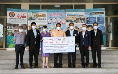 ส.อ.ท. ร่วมกับสมาคมอุตสาหกรรมปูนชีเมนต์ไทย และสภาอุตสาหกรรมจังหวัดสระบุรี มอบเงินและอุปกรณ์ทางการแพทย์มูลค่ารวม 1.6 ล้านบาท ให้โรงพยาบาลหนองแคจังหวัดสระบุรีสู้ภัยโควิด-19