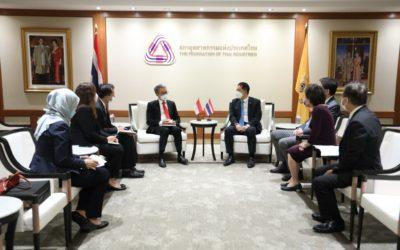สภาอุตสาหกรรมแห่งประเทศไทย หารือเอกอัครราชทูตอินโดนีเซียประจำประเทศไทย เพื่อส่งเสริมความร่วมมือทางด้านการค้าการลงทุน